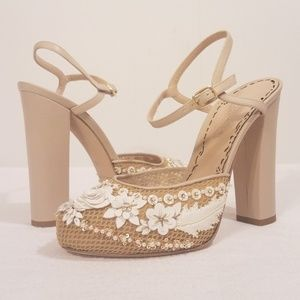 MARCHESA MEGAN HEELS, NEW IN BOX w/ DUST BAGS